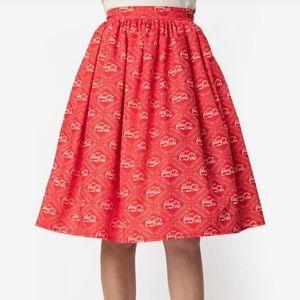 NWT Unique Vintage Coke Skirt